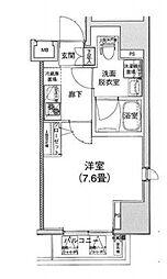 東京メトロ半蔵門線 神保町駅 徒歩3分の賃貸マンション 3階1Kの間取り
