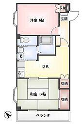 アキヤママンション[1階]の間取り