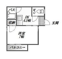 徳島県徳島市佐古六番町の賃貸マンションの間取り