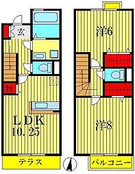 [テラスハウス] 東京都葛飾区奥戸6丁目 の賃貸【/】の間取り