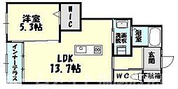 [タウンハウス] 福岡県糟屋郡粕屋町大字江辻 の賃貸【/】の間取り