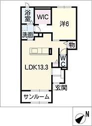 レジデンス・サンリット D棟[1階]の間取り