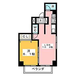 レジデンシア栄南[8階]の間取り