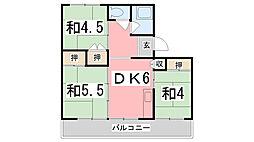 兵庫県姫路市土山2の賃貸マンションの間取り