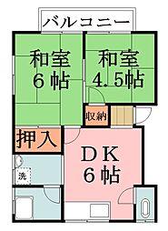 プラムハウス[2階]の間取り