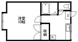 新潟県新潟市東区寺山1丁目の賃貸アパートの間取り