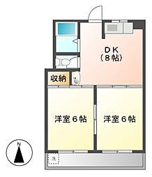 栄ファイブマンション[4階]の間取り