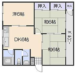 大原マンション[1階]の間取り