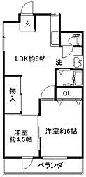 メゾン深井[2階]の間取り