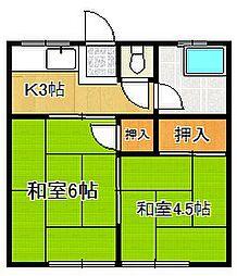 江崎アパート[105号室]の間取り