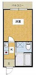 小田急小田原線 本厚木駅 バス20分 桜台下車 徒歩2分の賃貸アパート 1階1Kの間取り