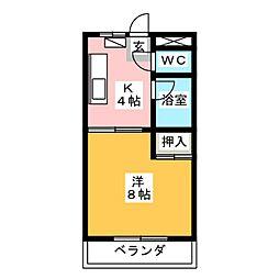 千春パークビル[5階]の間取り