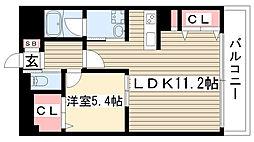 愛知県名古屋市守山区大字中志段味字下寺林の賃貸アパートの間取り