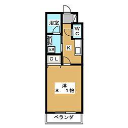 ブランドールO&N[2階]の間取り