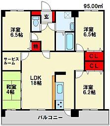 メゾンほおづきI[3階]の間取り