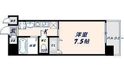 近鉄大阪線 長瀬駅 徒歩1分の賃貸マンション 4階1Kの間取り
