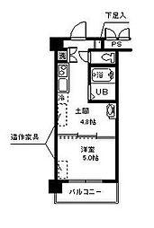 神奈川県相模原市中央区清新2丁目の賃貸マンションの間取り