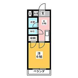 ハイツEBATAII[3階]の間取り