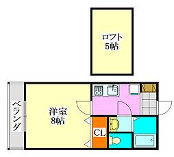 メルローズプレイスII[207号室]の間取り