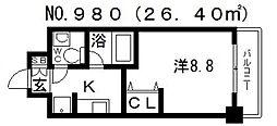 ジュネス東住吉弐番館[4階]の間取り