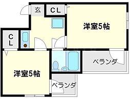 アメニティ新大阪4番館[5階]の間取り