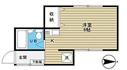第二目白ハウス[2階]の間取り
