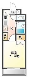 愛知県長久手市市が洞2丁目の賃貸マンションの間取り