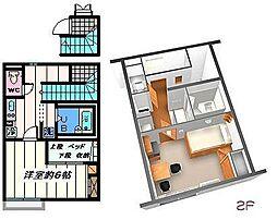 東京都葛飾区高砂6丁目の賃貸アパートの間取り