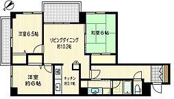 ダイアパレスプロミネントコート川崎[2階]の間取り