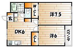シェリール井堀通り[2階]の間取り