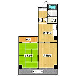 アーバンレイ12[5階]の間取り