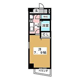 アーバネス金山[7階]の間取り