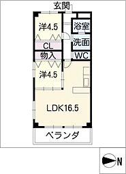 第2SSマンション[1階]の間取り