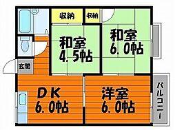 エフシリーズ東富井B棟[1階]の間取り