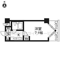 DETOM−1三条通604[6階]の間取り