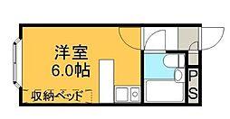 神奈川県秦野市渋沢上1丁目の賃貸アパートの間取り