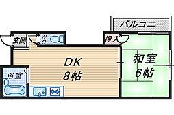 シンシア本町レジデンス[102号室]の間取り