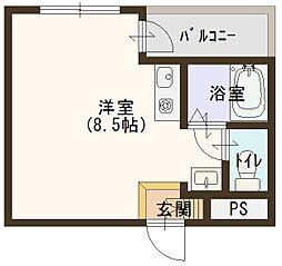 忍ケ丘マンション[202号室]の間取り