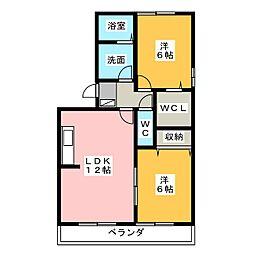 賀茂川ガーデンプレイスB[1階]の間取り
