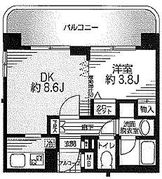 パール蒔田[4階]の間取り