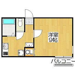 京OHBUII[3階]の間取り
