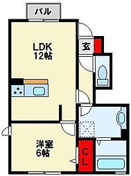 仮)D-room則松[1階]の間取り