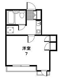 東京都世田谷区用賀4丁目の賃貸マンションの間取り