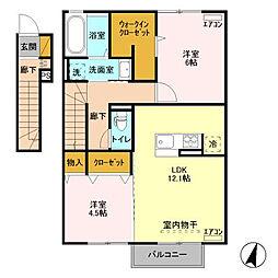 仮)D-room取手ゆめみ野39街区A[2階]の間取り