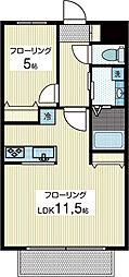 フォンテーヌA[1階]の間取り