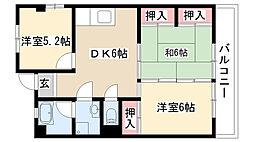 愛知県名古屋市昭和区紅梅町3丁目の賃貸マンションの間取り
