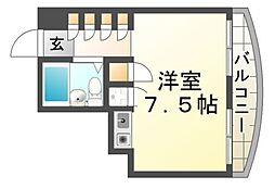 プレアール立花[4階]の間取り