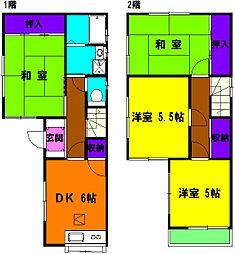 [一戸建] 静岡県浜松市中区北寺島町 の賃貸【静岡県 / 浜松市中区】の間取り