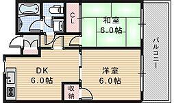 サザンクロス静[4階]の間取り
