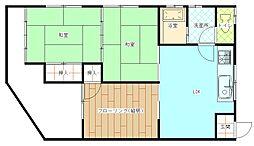 広島県安芸郡府中町城ケ丘の賃貸アパートの間取り